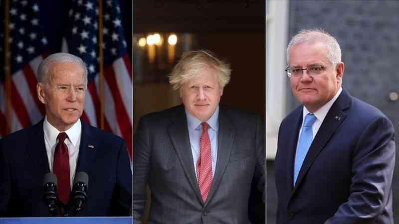 """ABD, İngiltere ve Avustralya """"AUKUS"""" adı altında yeni bir güvenlik iş birliği kurdu"""