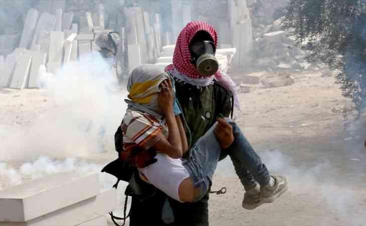 Batı Şeria'da Yahudi yerleşim birimleri inşasına karşı gösteri