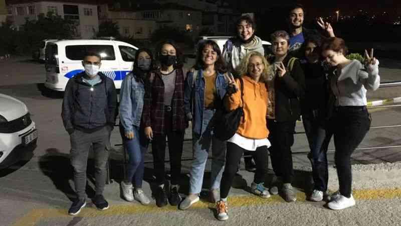 Polise göre öğrenciler parkı işgal etmiş