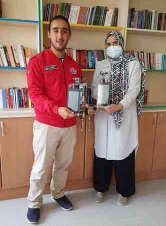 """Gaziantepli öğrencinin geliştirdiği """"Robot Rafık"""" TEKNOFEST finaline katılacak"""