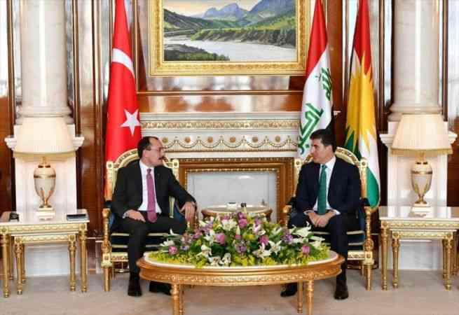 Ticaret Bakanı Muş, Erbil'de IKBY Başkanı Barzani ile görüştü