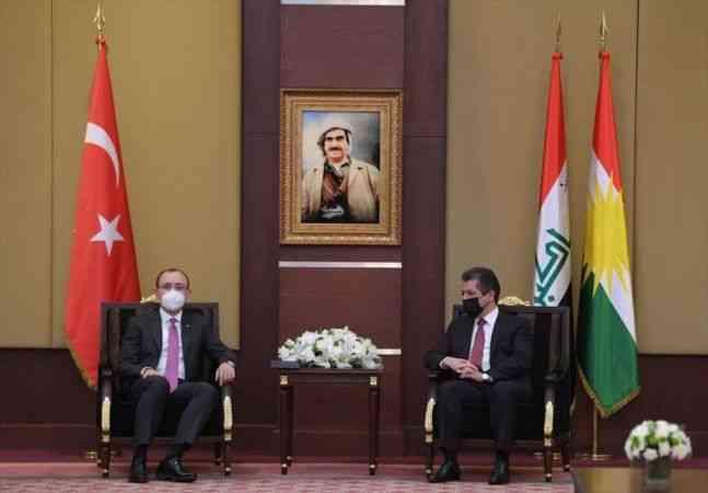 Ticaret Bakanı Muş, Erbil'de IKBY Başbakanı Barzani ile görüştü