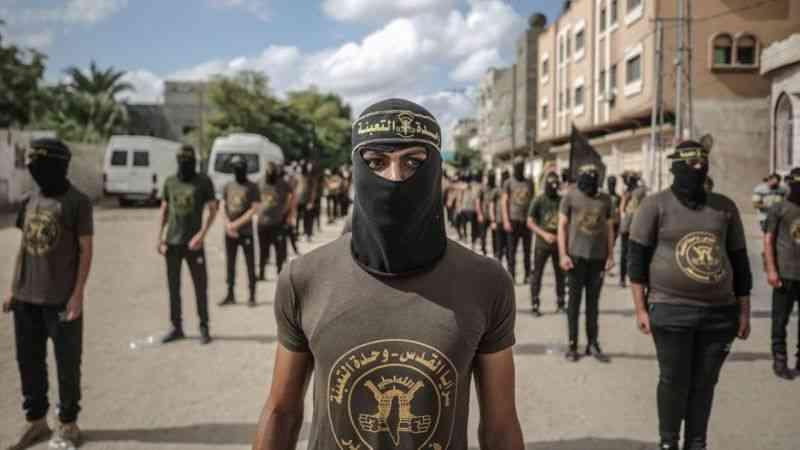 Gazze'de İslami Cihad'dan İsrail hapishanelerindeki Filistinli tutuklulara destek yürüyüşü