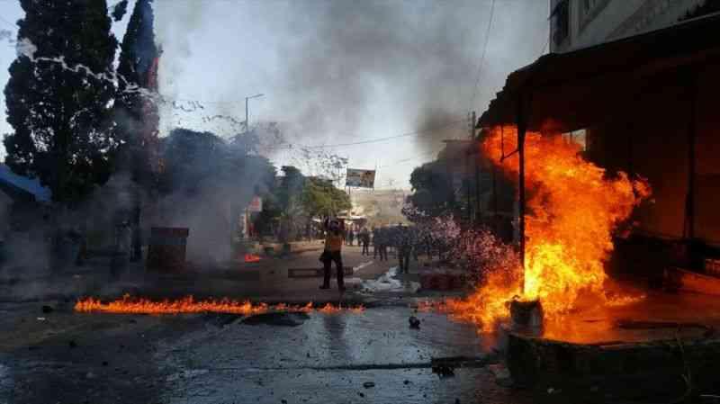 Suriye'nin Cerablus ilçesinde düzenlenen terör saldırılarında 1 sivil öldü, 15'i yaralandı