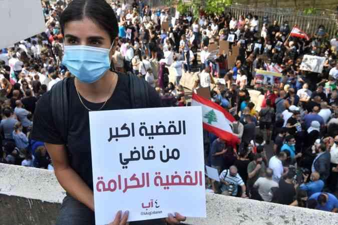 Lübnan'daki liman patlaması soruşturmasını yürüten yargıca destek gösterisi düzenlendi