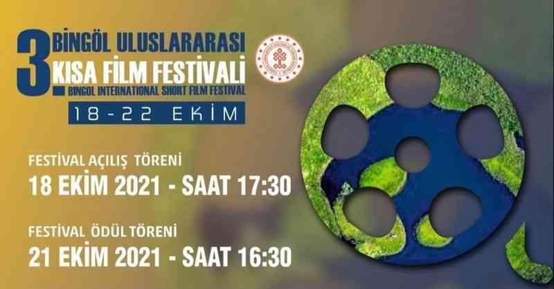 3. Bingöl Uluslararası Kısa Film Festivali'ne 5 ülkeden 245 film için başvuru yapıldı