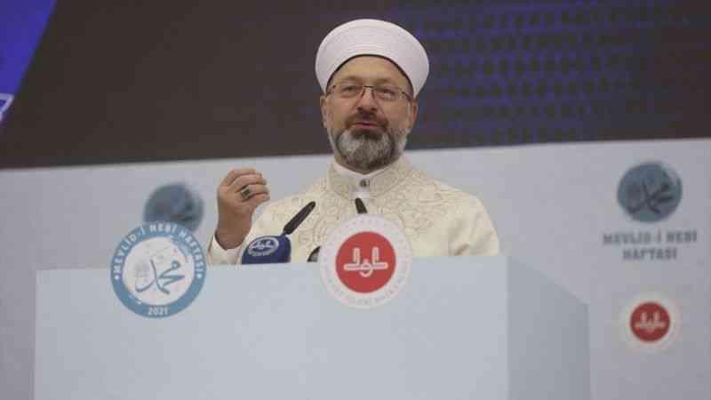 Diyanet İşleri Başkanı Erbaş, Mevlid-i Nebi Haftası tanıtım toplantısında konuştu