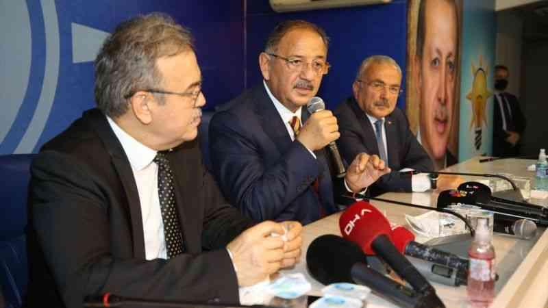 AK Parti'li Özhaseki, Ordu'da partisinin il başkanlığında konuştu