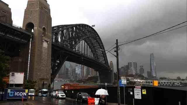 Avustralya'nın en büyük kenti Sydney yoğun yağışların etkisinde kaldı