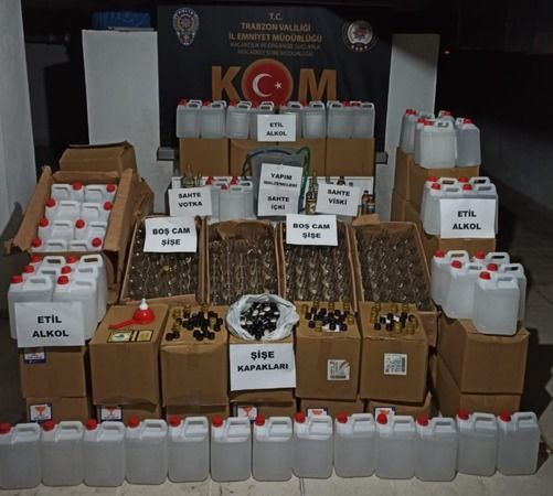 Trabzon'da sahte alkol operasyonu