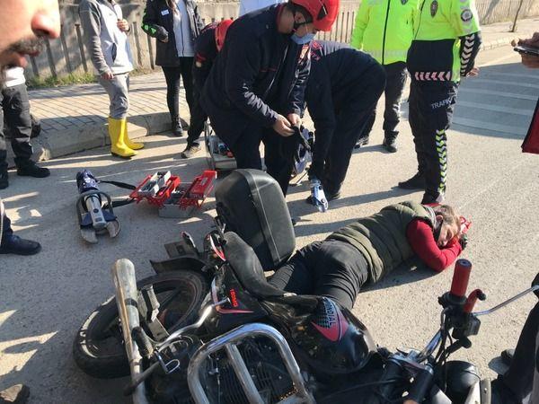 Kahramanmaraş'ta motosikletli kurye kaza yaptı