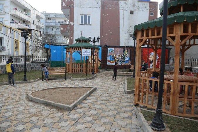 Cizre'de park yapım çalışmaları devam ediyor