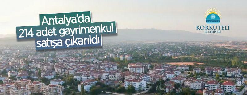Antalya'da 214 adet gayrimenkul satışa çıkarıldı