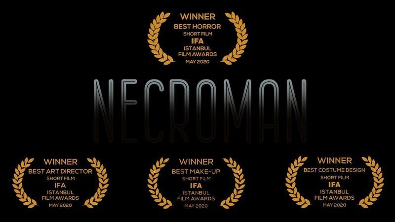 'Necroman' kısa filmiyle 14 ödülün sahibi oldu
