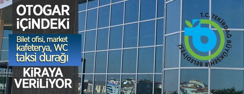Malkara Otogarı içerisinde bulunan 11 adet iş yeri kiraya verilecek