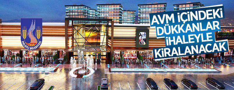 Polatlı Belediyesi'ne ait AVM içindeki 31 adet dükkan kiraya verilecek