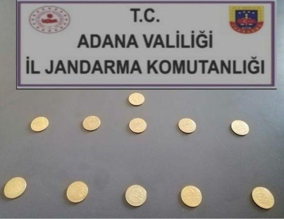 Adana'da 11 altın sikke ele geçirildi