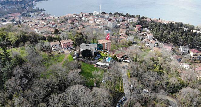 Sedat Peker'in Beykoz'daki villası havadan görüntülendi