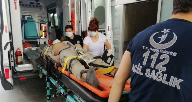 Limanda 3. Kattan düşen işçi yaralandı