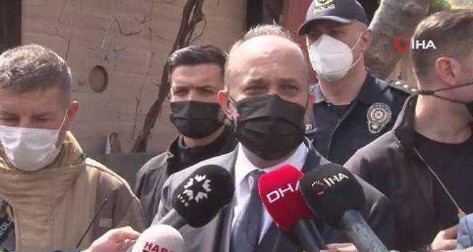 İstanbul İl Emniyet Müdürü Zafer Aktaş, yangın alanında inceleme yaptı