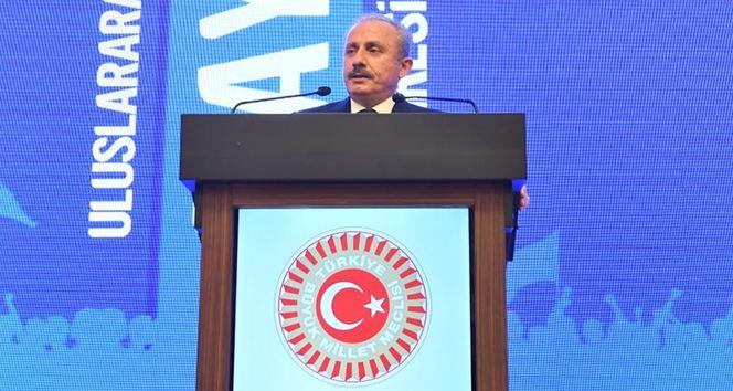 TBMM Başkanı Şentop 'Uluslararası 1 Mayıs Kongresi'ne katıldı