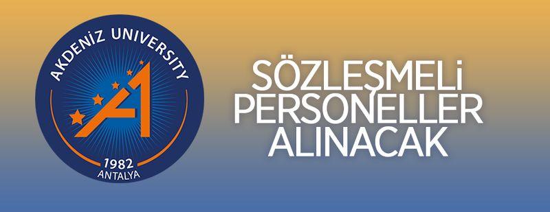 Akdeniz Üniversitesi 11 sözleşmeli personel alacak