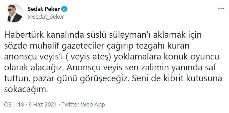 Sedat Peker onu da listeye aldı: Kibrit kutusuna sokacağım
