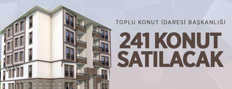 TOKİ, Burdur'da 241 konutu satışa sunuyor