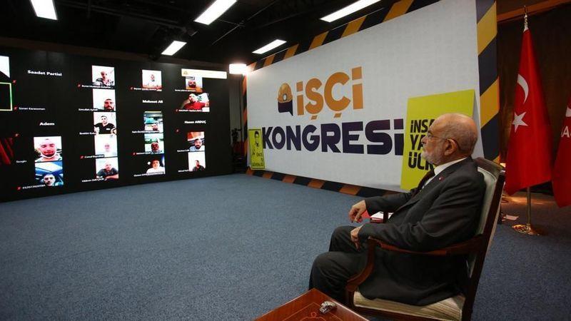 Saadet'in İşçi Kongresi'ne yoğun ilgi