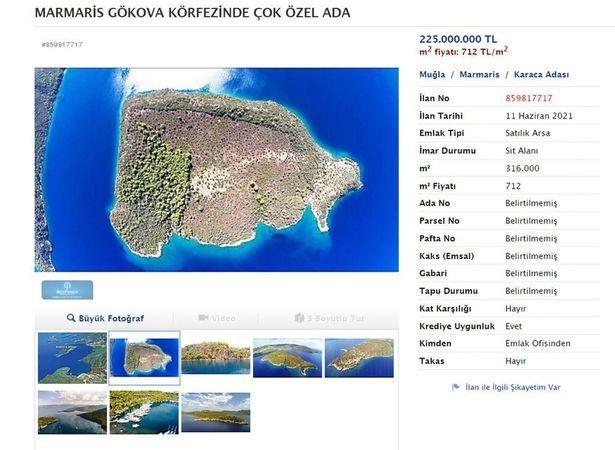 Cumhurbaşkanlığı konutu karşısı satılık ada! İşte fiyatı