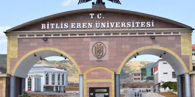Bitlis Eren Üniversitesi 19 Öğretim Üyesi alacak