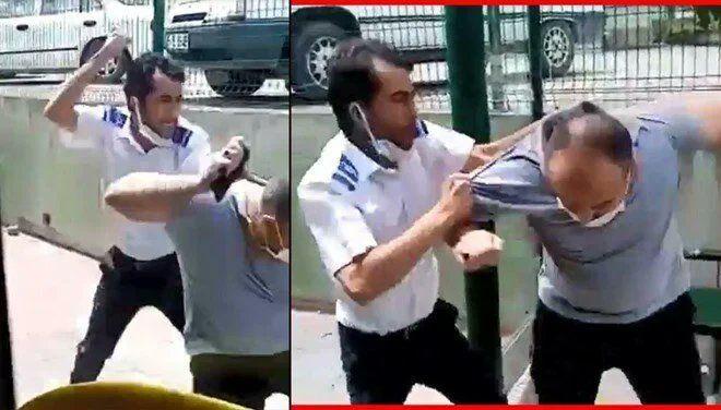 Tartıştığı yolcuyu tekme tokat dövdü