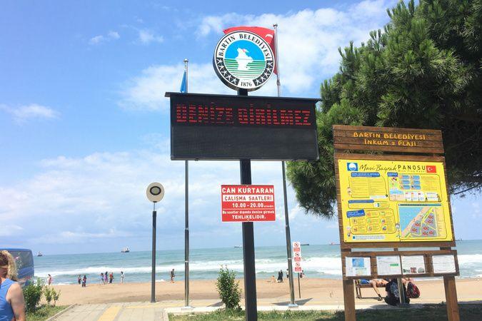 İnkumu plajında denize girmek yasaklandı