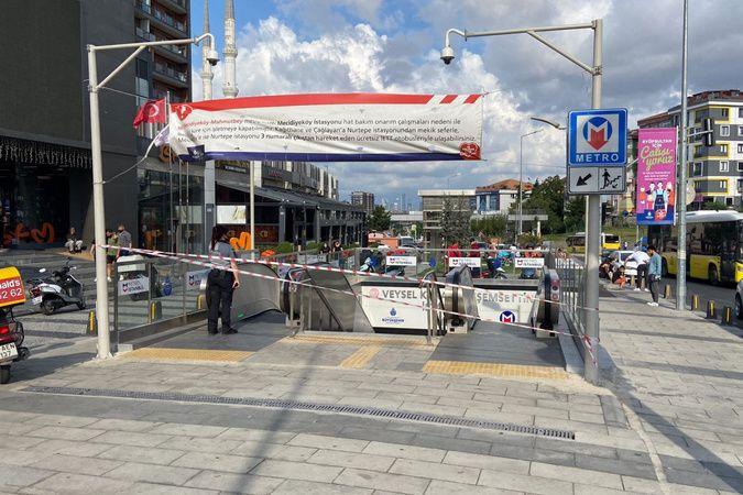 Eyüpsultan'daki metroda hareketli dakikalar