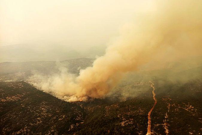 Muğla yangınlarında 9'uncu gün
