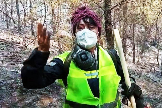 Oyuncu Mehtap Bayri: 'Ormanları yakanları unutmayalım'