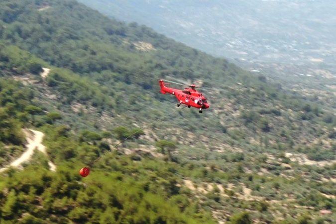 Helikopterlerin sortileri drone ile görüntülendi