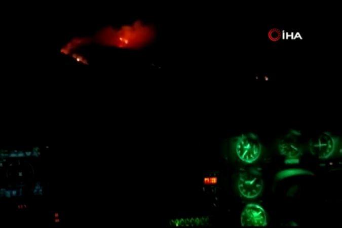 Ukrayna'dan gelen helikopterler gece mesaisinde