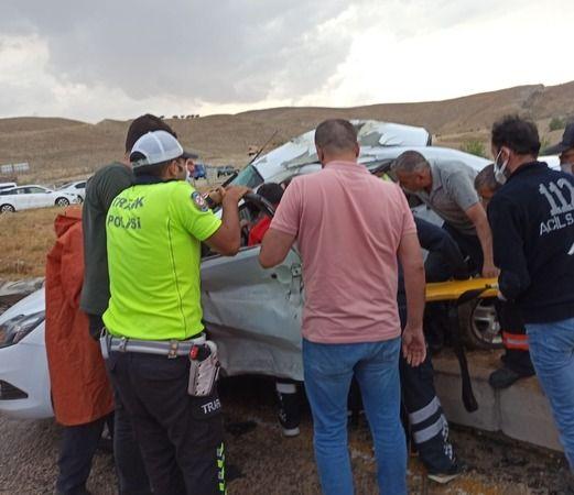 Kazada, baba ve kızı yaralandı