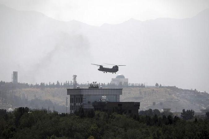 Helikopterler indi! ABD Kabil büyükelçiliğini boşaltıyor!