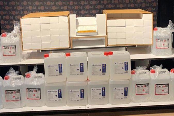 Iğdır'da kaçak 80 litre etil alkol ve 20 bin boş sigara makaronu ele geçirildi