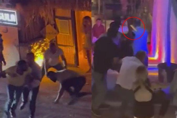 İzmir'de bir kişinin öldüğü bıçaklı kavga anı kamerada