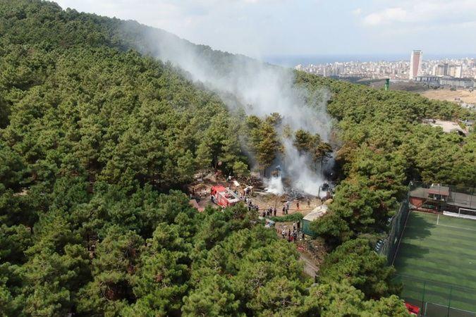 Başıbüyük Ormanında korkutan yangın