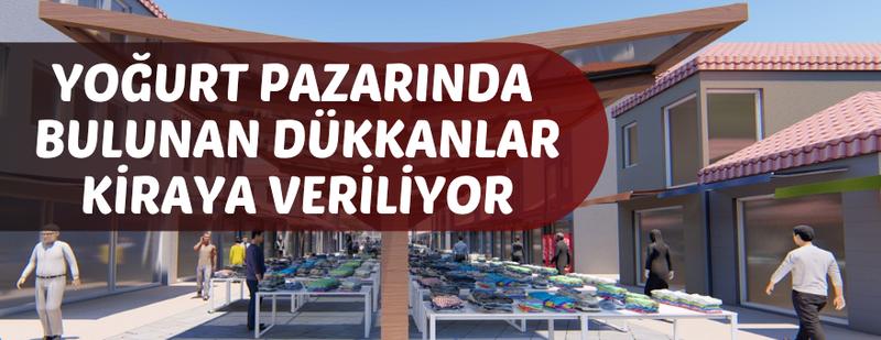 Emirdağ Belediyesi 69 dükkanı kiraya verecek!