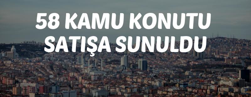 Ankara'da kamu konutu satışı