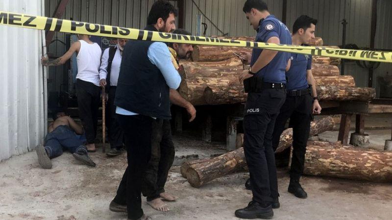 Antalya'da kolunu iş makinesine kaptıran işçi öldü