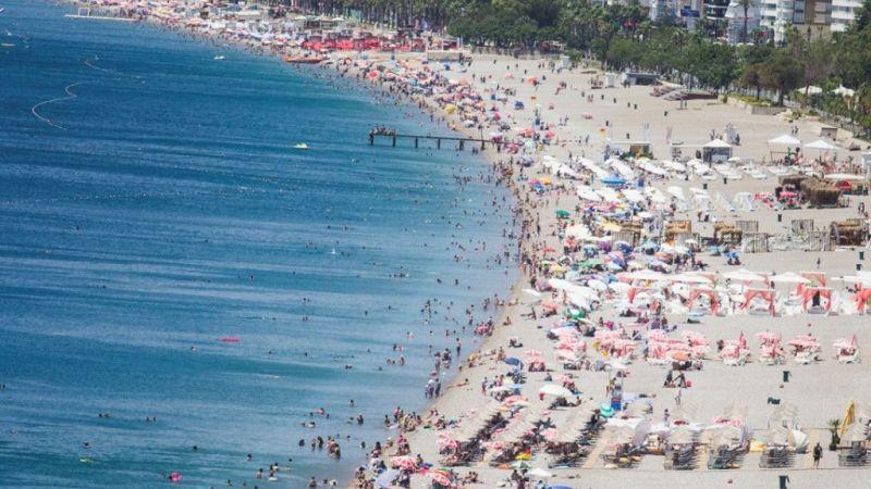 Hava sıcaklığı 35 dereceye yükseldi sahiller doldu