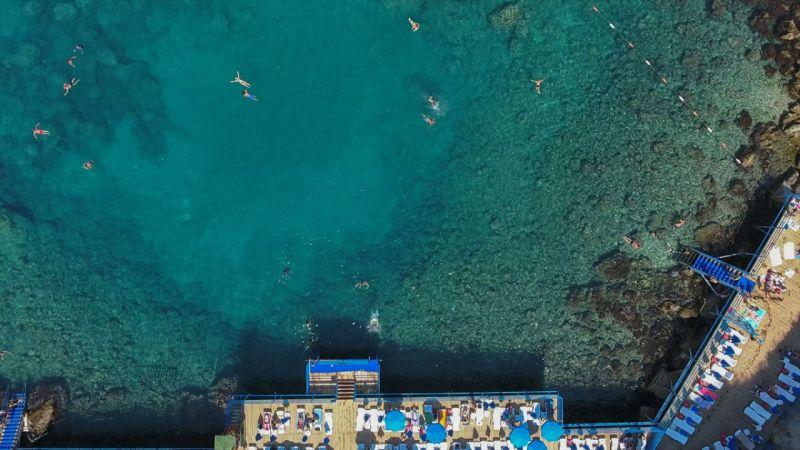 Antalya'da falez plajlara ilgi