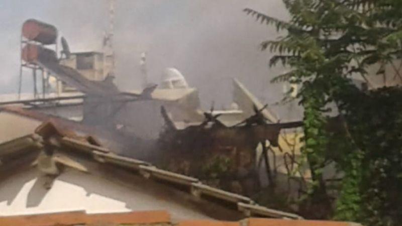 Antalya Kaleiçi'nde yangın paniği