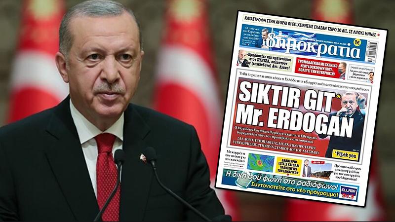 Yunan gazetesinin manşeti kriz yarattı